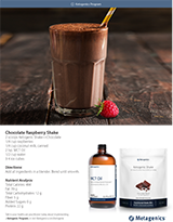 Ketogenic Chocolate Raspberry Shake